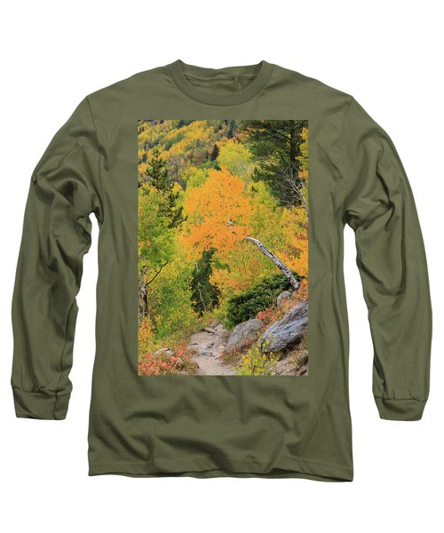 Yellow Drop Long Sleeve T-Shirt by David Chandler
