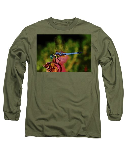 Long Sleeve T-Shirt featuring the photograph A Dragonfly 028 by George Bostian