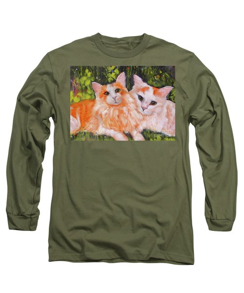 A Duet Of Kittens Long Sleeve T-Shirt