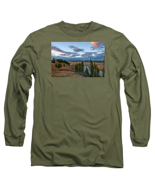 A Fall Evening In Hayden Valley Long Sleeve T-Shirt