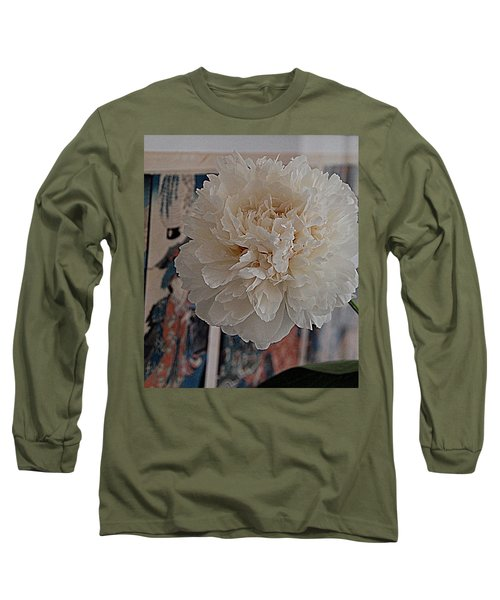 Long Sleeve T-Shirt featuring the photograph A Fluff Of Petals by Nancy Kane Chapman