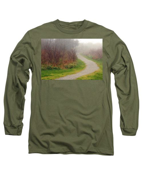 A Foggy Path Long Sleeve T-Shirt