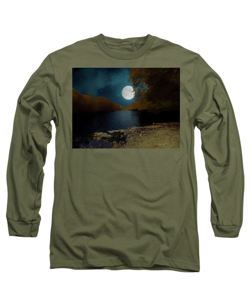 A Full Moon On A River. Long Sleeve T-Shirt
