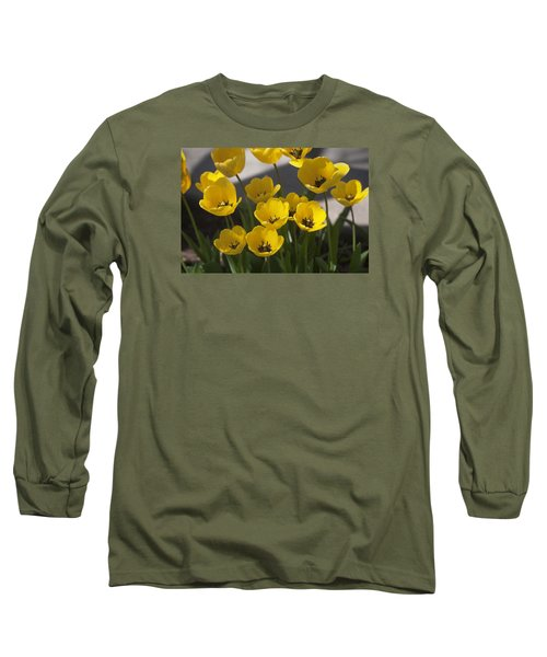 A Gathering Of Tulips Long Sleeve T-Shirt by Morris  McClung