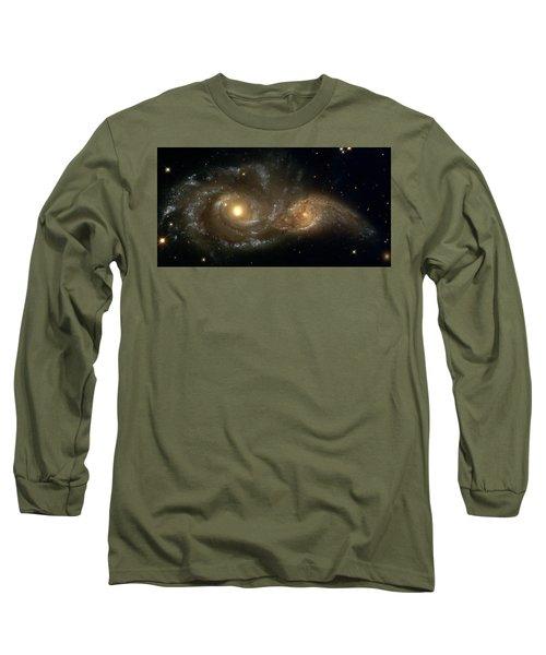 A Grazing Encounter Between Two Spiral Galaxies Long Sleeve T-Shirt