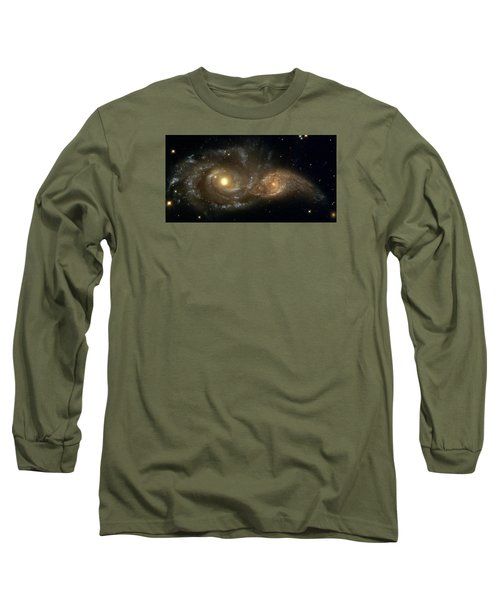 A Grazing Encounter Between Two Spiral Galaxies Long Sleeve T-Shirt