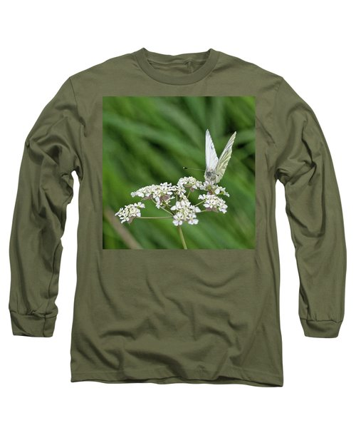 A Green-veined White (pieris Napi) Long Sleeve T-Shirt