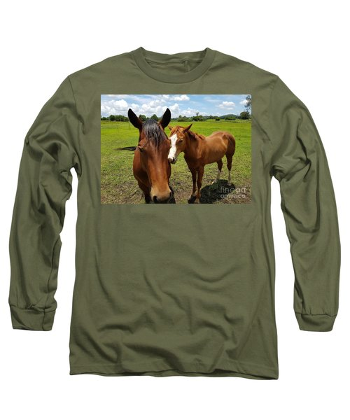 A Horse's Touch Long Sleeve T-Shirt