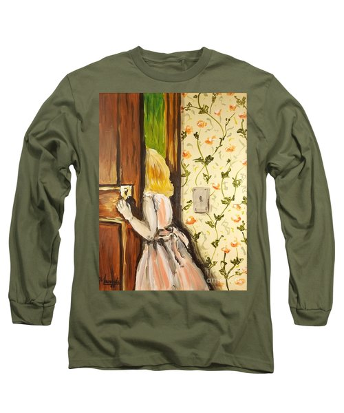 Long Sleeve T-Shirt featuring the painting A Journey Begins by Maria Langgle