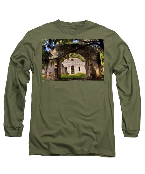 A Look Into The Chapel Of Ease St. Helena Island Beaufort Sc Long Sleeve T-Shirt