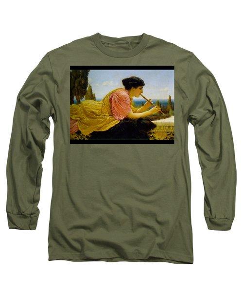 A Melody  Long Sleeve T-Shirt by John William Godward