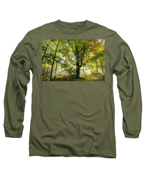 A Misty Fall Morning Long Sleeve T-Shirt