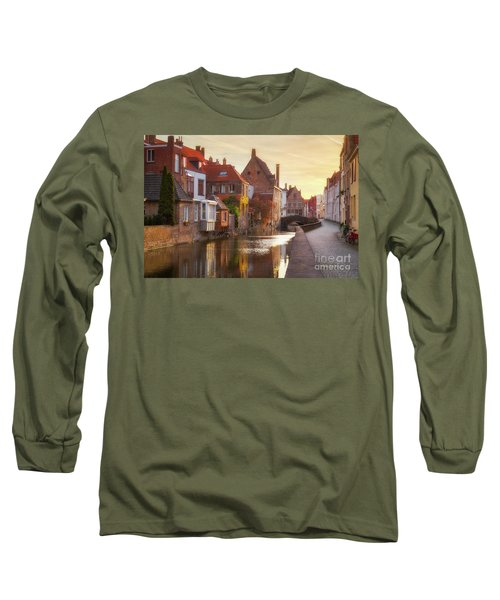 A Morning In Brugge Long Sleeve T-Shirt by JR Photography