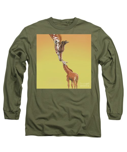 A Mother's Love Long Sleeve T-Shirt by Thomas J Herring