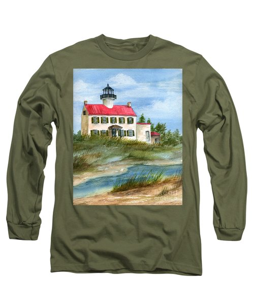 Long Sleeve T-Shirt featuring the painting A Nice Day At The Point  by Nancy Patterson