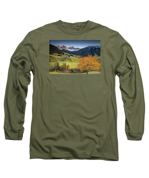 A Night In Dolomites Long Sleeve T-Shirt