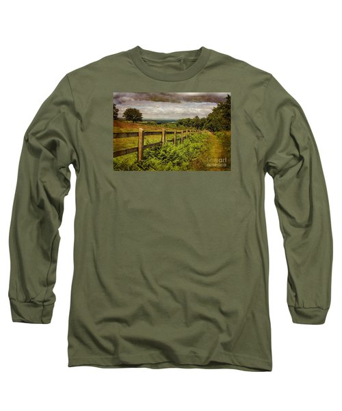 Long Sleeve T-Shirt featuring the photograph A Path From  A Hill by Linsey Williams