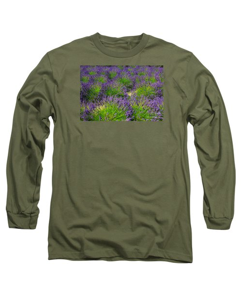 A Pattern Of Lavender Long Sleeve T-Shirt