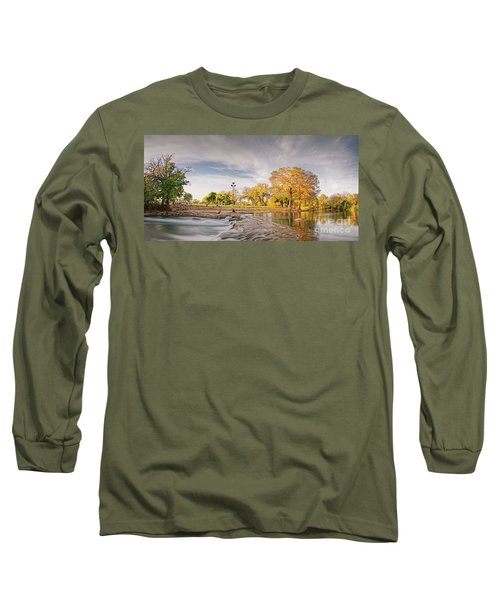 A Peaceful Fall Afternoon At Rio Vista Dam Park - San Marcos Hays County Texas Hill Country Long Sleeve T-Shirt