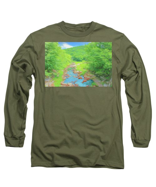 A Peaceful Summer Day In Southern Vermont. Long Sleeve T-Shirt