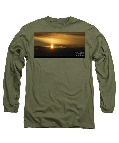 A Pillar Of Golden Light Long Sleeve T-Shirt by Brad Allen Fine Art