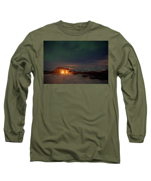 Long Sleeve T-Shirt featuring the photograph A Place For The Night, South Of Iceland by Dubi Roman