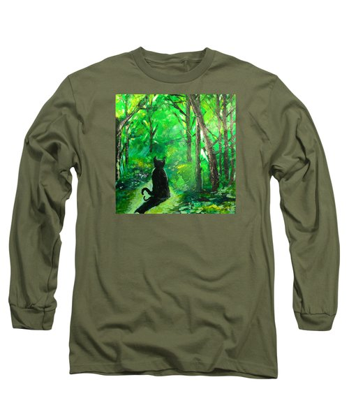 A Purrfect Day Long Sleeve T-Shirt by Seth Weaver