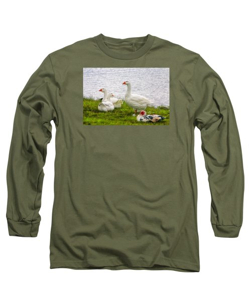 Long Sleeve T-Shirt featuring the photograph A Quiet Moment by Joan Bertucci