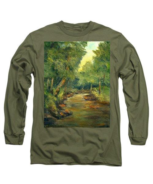 A Quiet Place Long Sleeve T-Shirt by Gail Kirtz