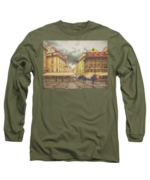A Rainy Day In Prague Long Sleeve T-Shirt