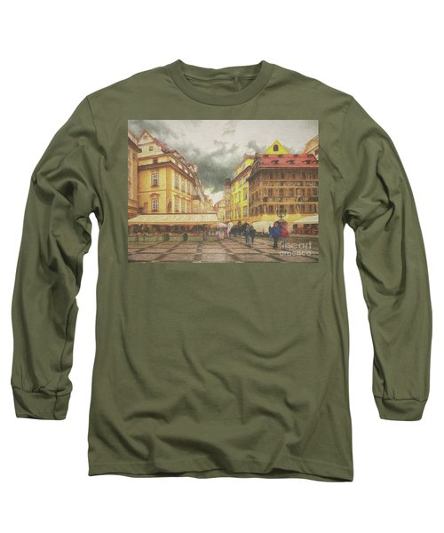 Long Sleeve T-Shirt featuring the photograph A Rainy Day In Prague by Leigh Kemp