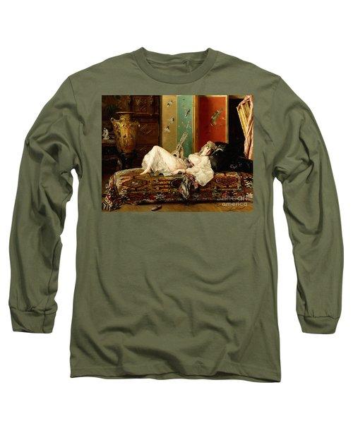 A Reclining Odalisque Long Sleeve T-Shirt