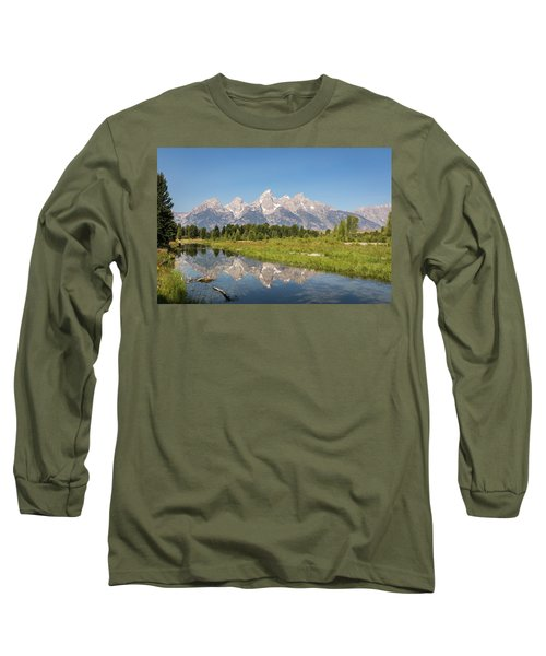 A Reflection Of The Tetons Long Sleeve T-Shirt
