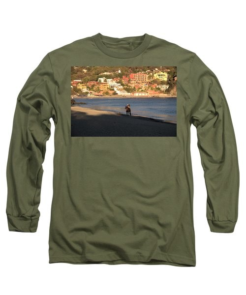 Long Sleeve T-Shirt featuring the photograph A Ride On The Beach by Jim Walls PhotoArtist