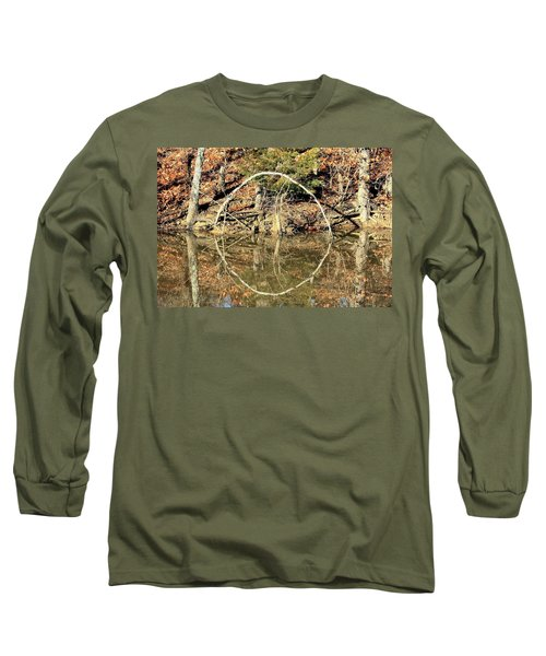 A Ring On The Pond In Fall Long Sleeve T-Shirt