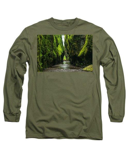 A River Runs Through It Long Sleeve T-Shirt by Rod Jellison