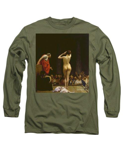 A Roman Slave Market, Jean Leon Gerome Long Sleeve T-Shirt