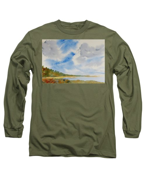 A Secluded Inlet Beneath Billowing Clouds Long Sleeve T-Shirt
