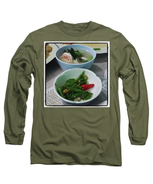 Long Sleeve T-Shirt featuring the photograph A Side Of Tom Yum Goon With Your by Mr Photojimsf