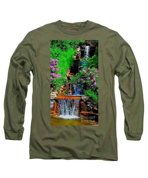 A Small Waterfall In Hbg Sweden Long Sleeve T-Shirt