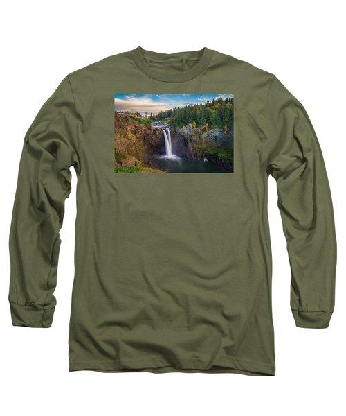 A Snoqualmie Falls  Autumn Long Sleeve T-Shirt