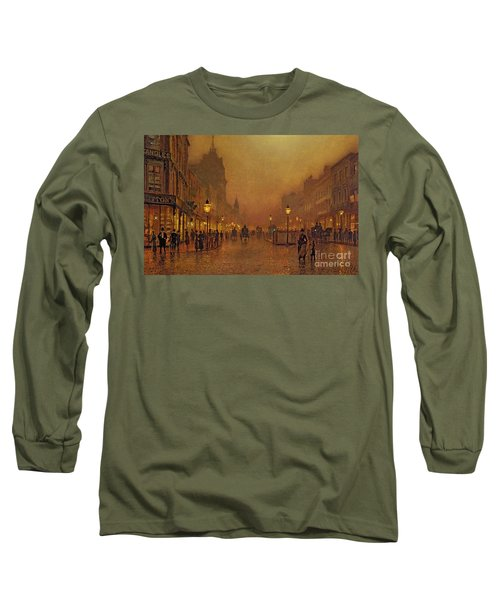 A Street At Night Long Sleeve T-Shirt