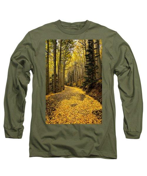 A Stroll Among The Golden Aspens  Long Sleeve T-Shirt