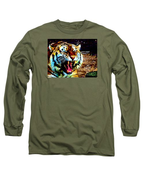 A Tiger's Roar Long Sleeve T-Shirt by Zedi