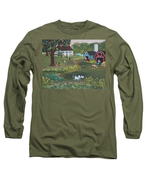 A Time To Play Long Sleeve T-Shirt by Virginia Coyle