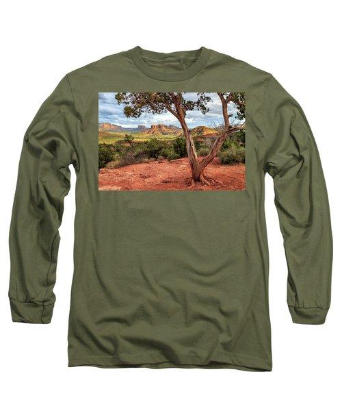 A Tree In Sedona Long Sleeve T-Shirt by James Eddy