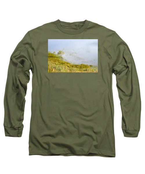 Long Sleeve T-Shirt featuring the photograph A Tree In The Lake Of The Scottish Highland by Dubi Roman