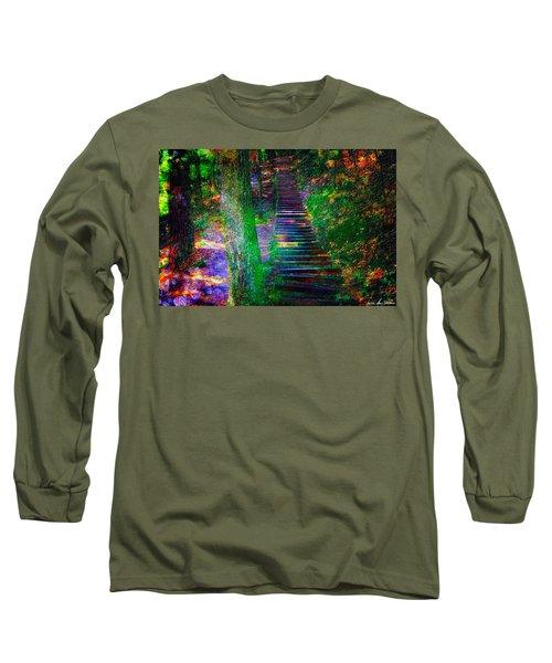 A Trek Long Sleeve T-Shirt by Iowan Stone-Flowers