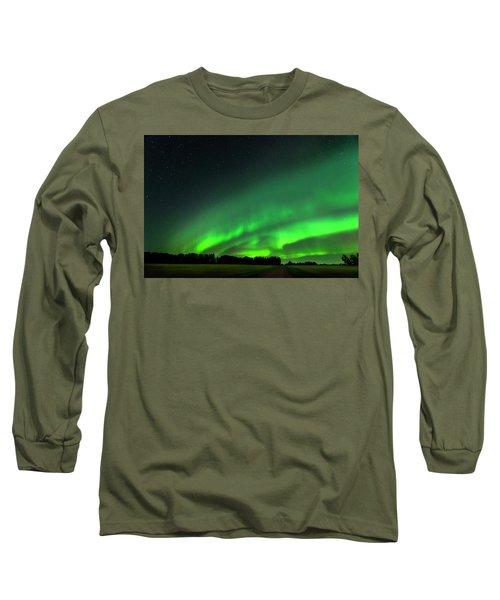 A Tsunami Of Green Long Sleeve T-Shirt