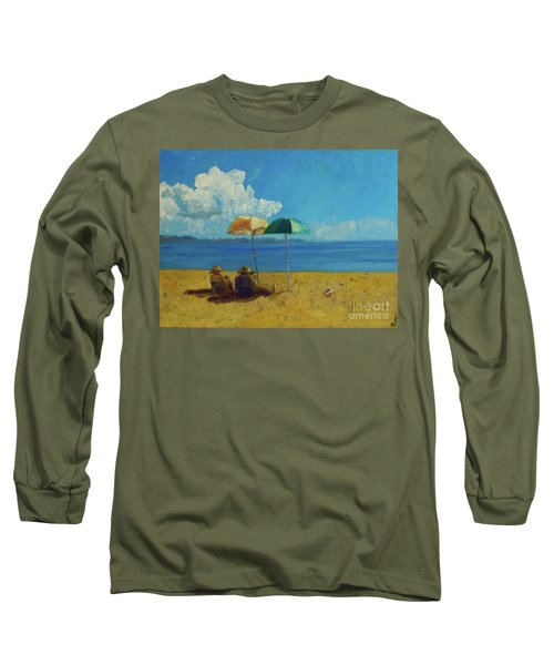 Long Sleeve T-Shirt featuring the painting A Vacant Lot - Byron Bay by Paul McKey